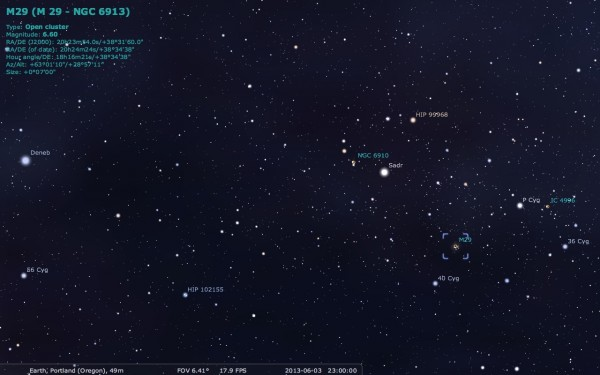 Image credit: Me, using the free software Stellarium, at http://stellarium.org/.