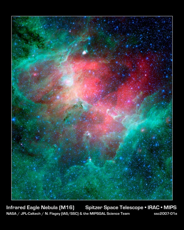 Image credit: NASA / JPL-Caltech / Spitzer / IRAC / N. Flagley and the MIPSGAL science team.
