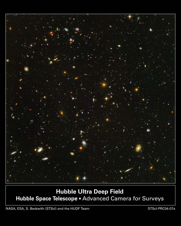 Image credit: S. Beckwith & the HUDF Working Group (STScI), HST, ESA, NASA.