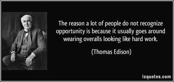 Image credit: http://izquotes.com/, quote by Thomas Edison.