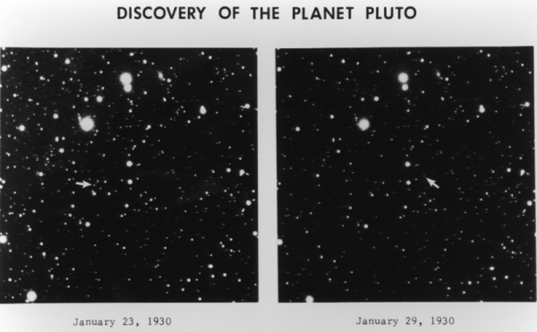 Image credit: Clyde Tombaugh's images, as they would have appeared in his blink comparator.