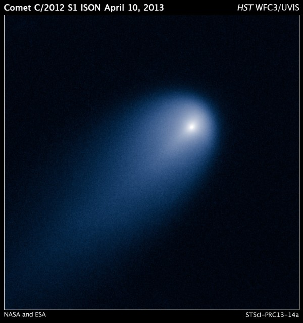 Image credit: NASA, ESA, J.-Y. Li (Planetary Science Institute), and the Hubble Comet ISON Imaging Science Team.