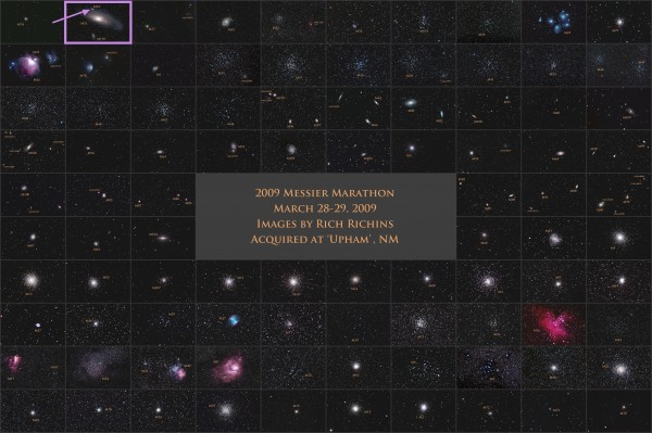 Image credit: Rich Richins, of all 110 Messier objects (in no particular order).