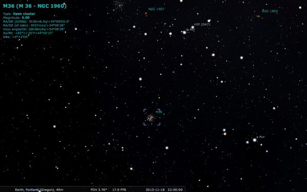 Image credit: me, using the free software Stellarium, available at http://stellarium.org/.