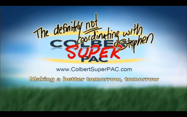 Image credit: The Colbert Report / Comedy Central; sorry, http://www.colbertsuperpac.com/ is defunct!