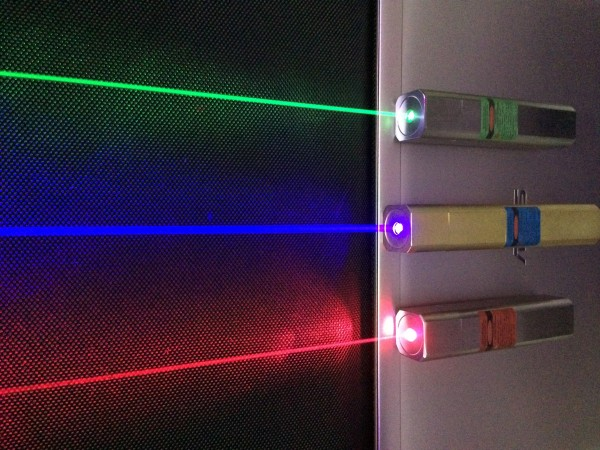 Image credit: Q-LINE Laser pointers, via Wikimedia Commons user Netweb01, under a c.c.-by-3.0 license.