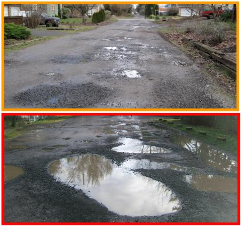 "Image credit: Portland's ""Roadway not improved"" project."