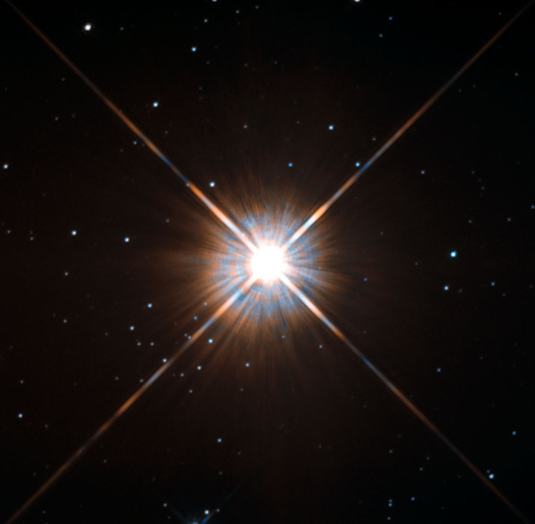 Proxima Centauri, as imaged by Hubble. Image credit: ESA/Hubble & NASA, via http://www.spacetelescope.org/images/potw1343a/.