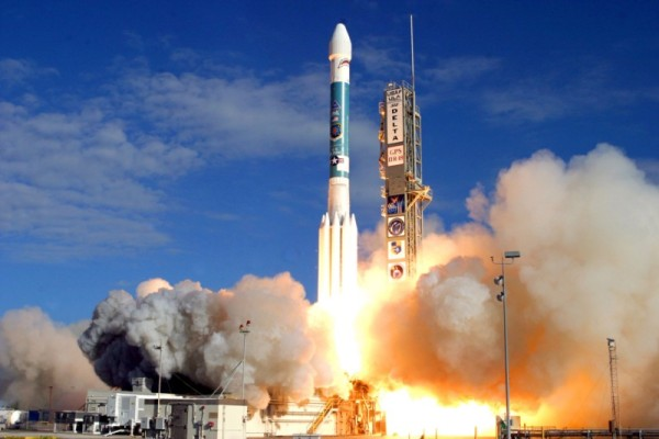 Image credit: Delta II rocket launch, public domain, via http://www.gps.gov/.
