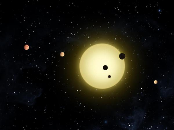 Sun-like stars with potentially habitable planets are plentiful, but which ones are inhabited are still unknown. Illustration credit: NASA / Kepler.