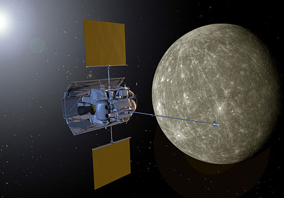 Image credit: NASA / MESSENGER mission, retrieved via http://spaceweather.gr/messenger-spacecraft-sees-lunar-eclipse-from-mercury/.