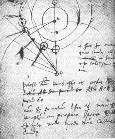 Image credit: Tycho Brahe's notebook on the great comet of 1577, via wikimedia commons user Sevenfold.