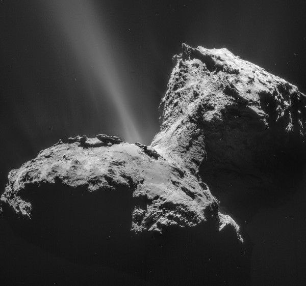 Image credit: ESA/Rosetta/NAVCAM — CC BY-SA IGO 3.0, via http://www.esa.int/spaceinimages/Images/2015/02/Comet_on_31_January_2015_NavCam.