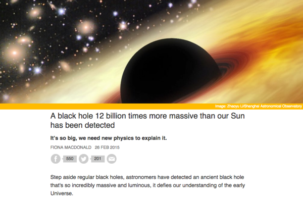 Image credit: screenshot from http://www.sciencealert.com/a-black-hole-12-billion-times-more-massive-than-our-sun-has-been-detected.