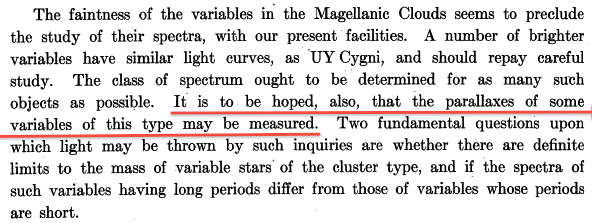 Image credit: Periods of 25 Variable Stars in the Small Magellanic Cloud.; Leavitt, H. S. & Pickering, E. C.; Harvard College Observatory Circular, vol. 173, pp.1-3.