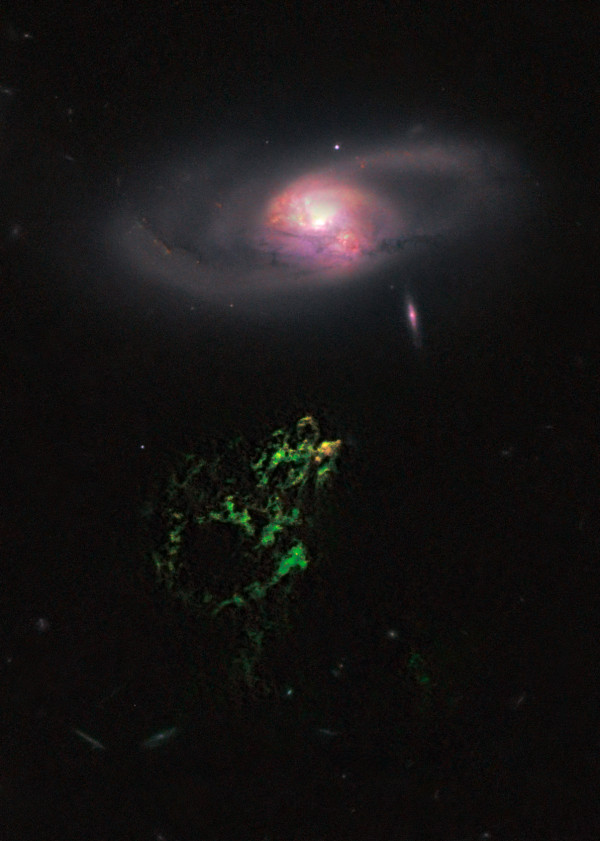 Image credit: NASA, ESA, W. Keel (University of Alabama), and the Galaxy Zoo Team.