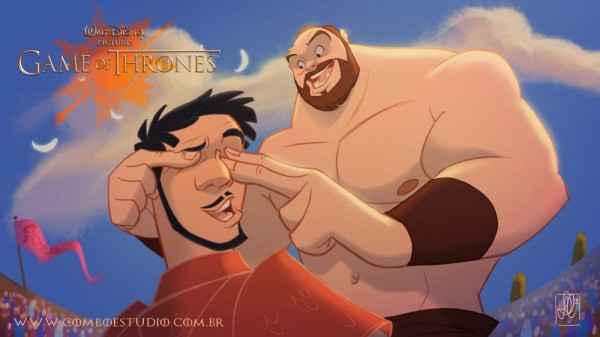 Image credit: Anderson Mahanski, of the Mountain (Gregor Clegane) and the Red Viper (Oberyn Martell).