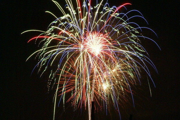 Image credit: Wikimedia Commons user Draper, of fireworks in Prescott Valley, AZ.