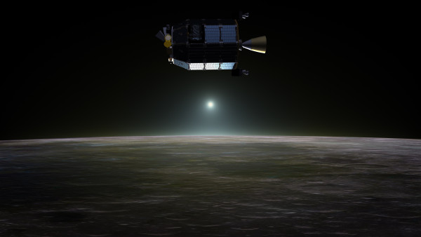 Image credit: NASA Ames / Dana Berry, of the LADEE spacecraft.