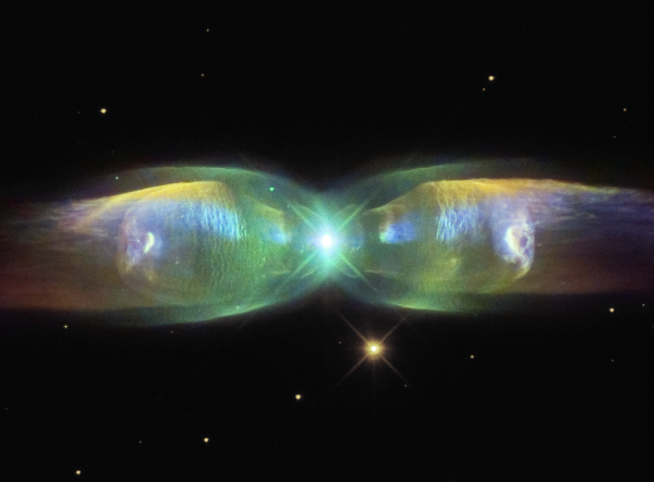 Image credit: ESA / NASA and the hubble Legacy Archive, created by Judy Schmidt.
