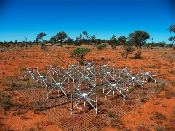 Image credit: one module in the Murchison Widefield Array (MWA), via Natasha Hurley-Walker under c.c.-by-s.a.-3.0.