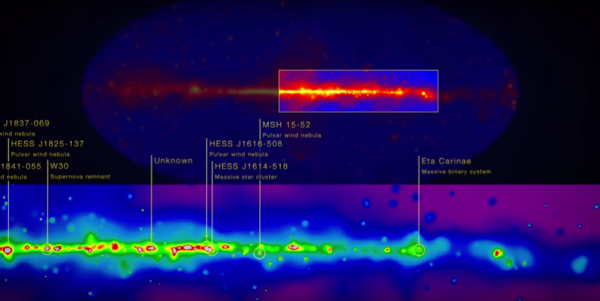 Image credit: NASA's Goddard Space Flight Center, of data from the Fermi LAT collaboration.