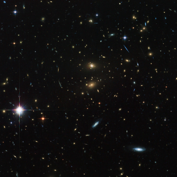 Image credit: ESA/Hubble & NASA, of galaxy cluster LCDS-0829.
