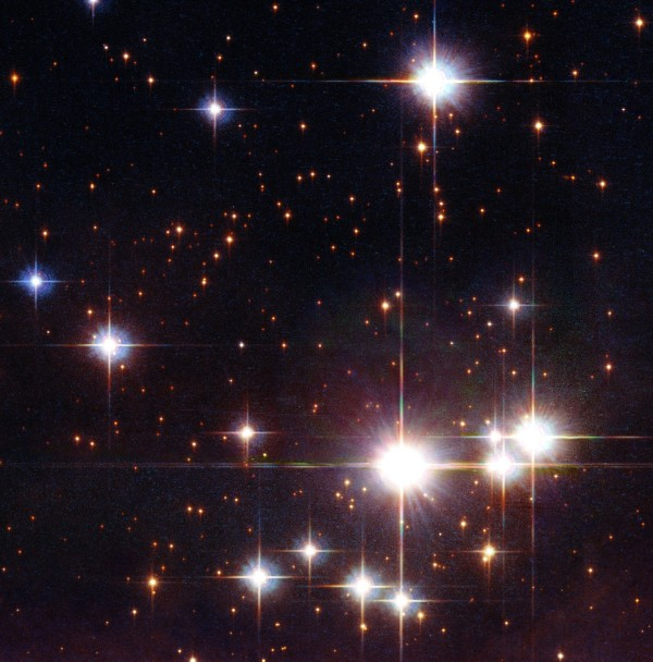 Image credit: NASA, ESA and Jesús Maíz Apellániz (Instituto de Astrofísica de Andalucía, Spain). Acknowledgement: Davide De Martin (ESA/Hubble), of the star cluster Pismis 24, containing hundreds of members.