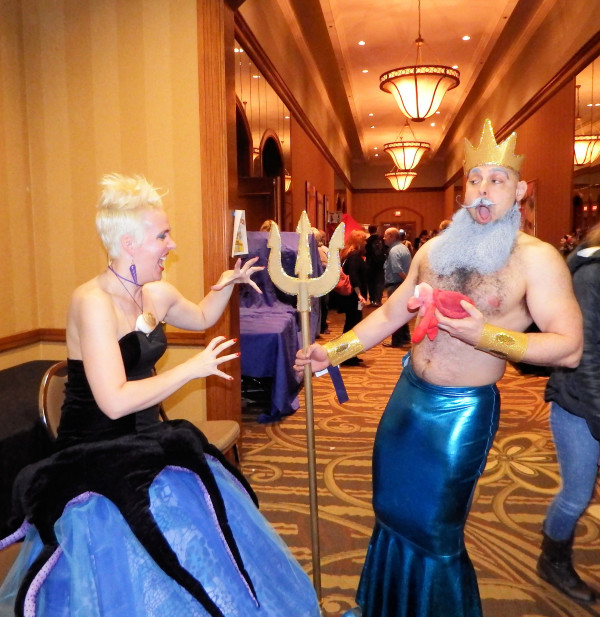 Image credit: photograph by Frank Tuttle of King Triton and Ursula the sea witch from the Little Mermaid at MidSouthCon 34.