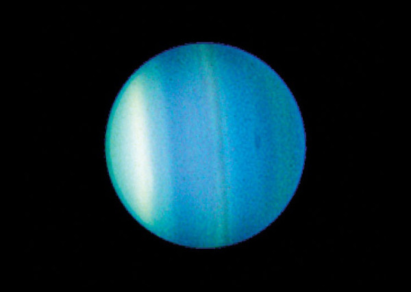 Image credit: NASA/Space Telescope Science Institute, of Uranus in 2006 from Hubble.