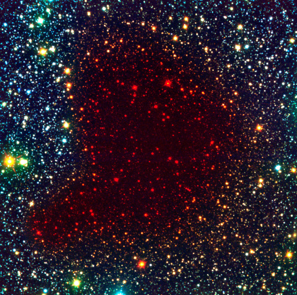 Image credit: ESO, of Barnard 68 in a composite of visible, near-IR and farther-IR light.