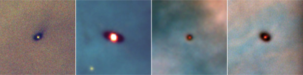 Image credit: Mark McCughrean (Max-Planck–Inst. Astron.); C. Robert O'Dell (Rice Univ.); NASA, of protoplanetary disks in the Orion Nebula, some ~1300 light years away.