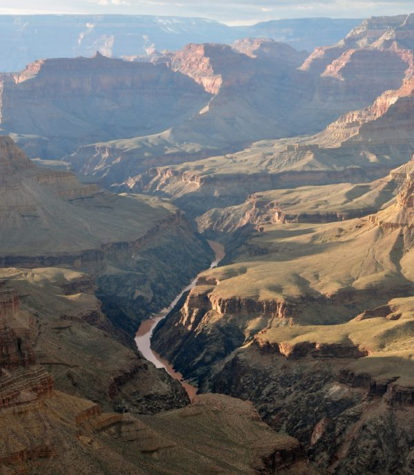 The Grand Canyon, as viewed from Pima Point, with the Colorado River running through it. Image credit: Wikimedia Commons user Chensiyuan, under a c.c.a.-s.a.-4.0 international license.