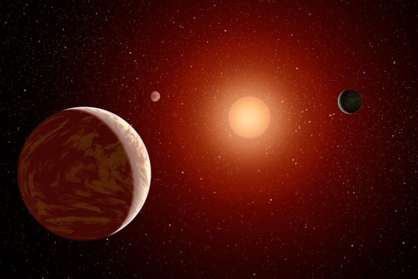 "All inner planets in a red dwarf system will be tidally locked, with one side always facing the star and one always facing away, with a ""ring"" of Earth-like habitability between the night and day sides. Image credit: NASA/JPL-Caltech."