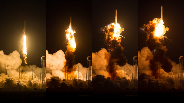 The uncrewed Antares rocket explosion from 2014. Image credit: NASA/Joel Kowsky.