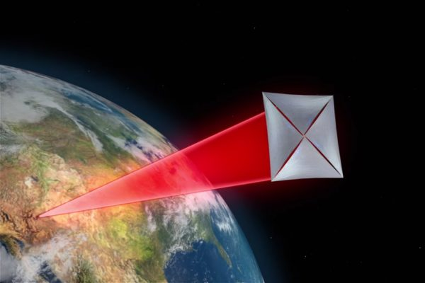 One key to success in an endeavor like a ground-based laser sail is to have as close to perfect laser collimation as possible, even through the atmosphere. Image credit: the Breakthrough Starshot initiative.