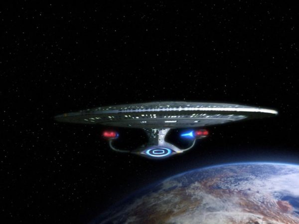 The starship Enterprise in the Star Trek: The Next Generation episode, The Hunted. Season 3, episode 11. Original air date, January 8, 1990. (Photo by CBS via Getty Images)