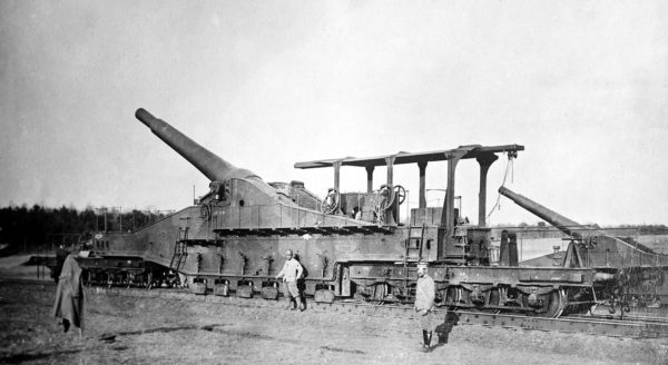 A French 320 mm railway gun, used during World War I.