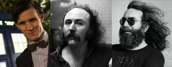 Matt Smith as The Doctor, David Crosby as David Crosby and Jerry Garcia as Jerry.
