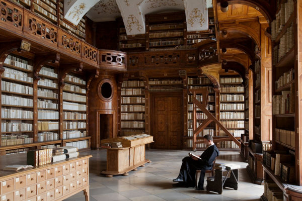 Göttweig Abbey library in Austria, one of the largest collections of information in the pre-internet world. Image credit: Jorge Royan under c.c.a.-s.a.-3.0.
