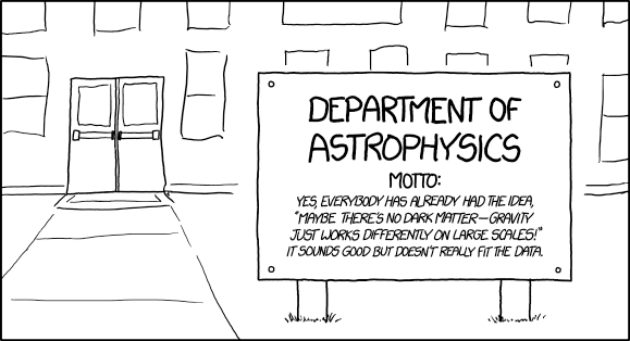 Xkcd's comic on Astrophysics. Image credit: Randall Munro of xkcd, via http://www.xkcd.com/1758/.