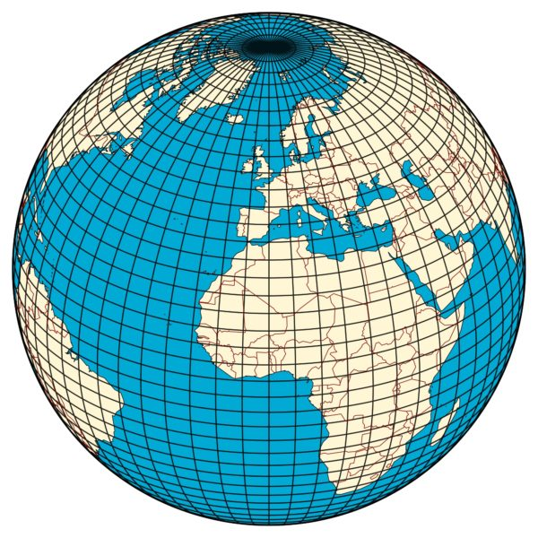 On the surface of a world like the Earth, two coordinates, like latitude and longitude, are sufficient to define a location. Image credit: Wikimedia Commons user Hellerick.