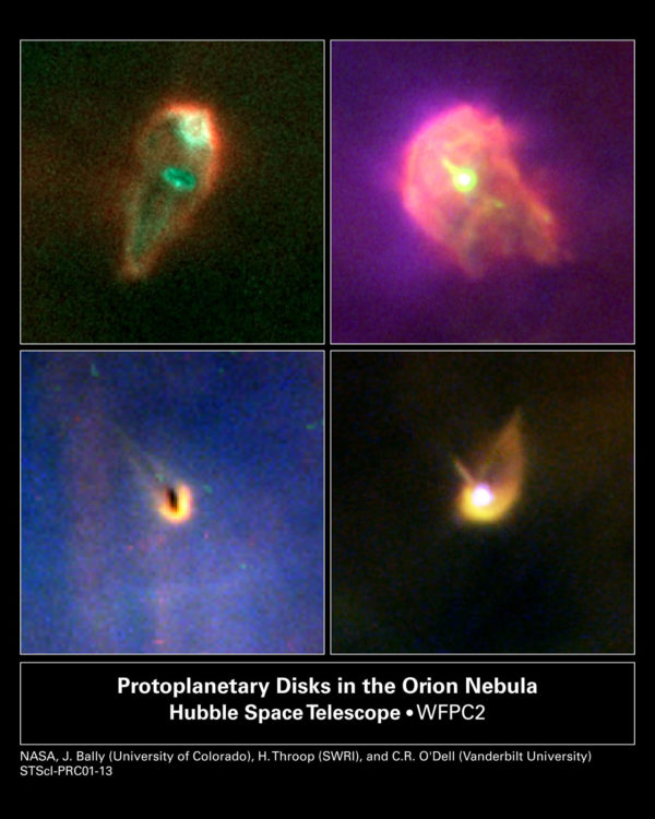 When nuclear fusion ignites, ultraviolet radiation works to blast any remaining protoplanetary material away. Image credit: NASA/ESA, J. Bally (University of Colorado, Boulder, CO), H. Throop (Southwest Research Institute, Boulder, CO), C.R. O'Dell (Vanderbilt University, Nashville, TN).