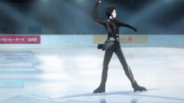 "Yuri Katsuki gliding on ice, from the Anime ""Yuri!!! on ice"". It's wonderful. Seriously. Go watch it. Funimation streams it in English."
