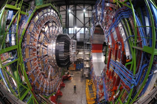 The CMS Collaboration has just released their latest, most comprehensive results ever. There is no indication of physics beyond the Standard Model in the results. Image credit: CERN/Maximlien Brice, of the CMS detector, the small detector at the LHC.