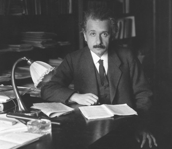 "Albert Einstein in 1920. Image credit: ""The Solar Eclipse of May 29, 1919, and the Einstein Effect,"" The Scientific Monthly 10:4 (1920), 418-422, on p. 418. Public domain."