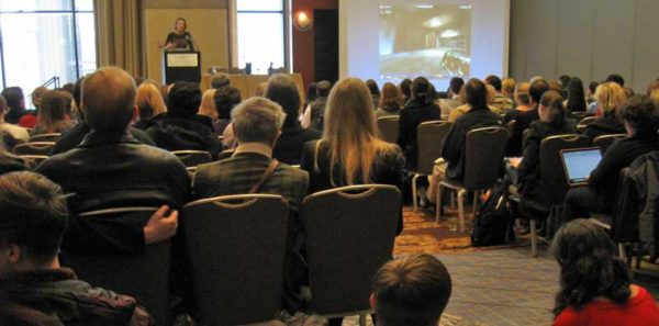 A brain science session at the 2014 AAAS meeting. Image credit: Nicky Penttila of the Dana Foundation.