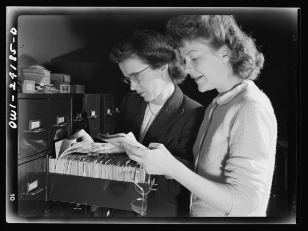 Whether through libraries, archives, traditional media, the internet or other forms of new media, independent research can be informative, but only to a point. Image credit: Washington, D.C. OWI (Office of War Information) research workers / U.S. Government.
