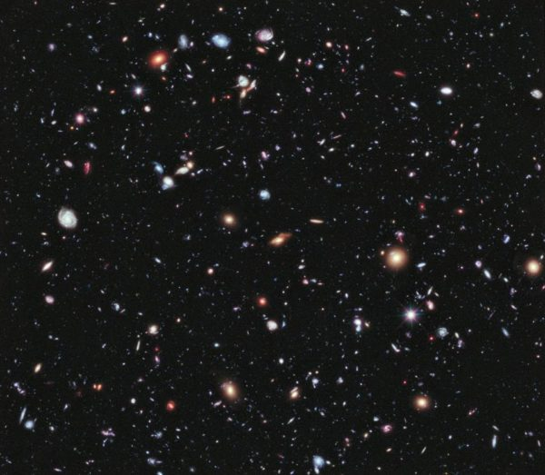 The Hubble eXtreme Deep Field, our deepest view of the Universe to date. Image credit: NASA; ESA; G. Illingworth, D. Magee, and P. Oesch, University of California, Santa Cruz; R. Bouwens, Leiden University; and the HUDF09 Team.