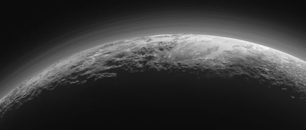 Pluto's atmosphere, as imaged by New Horizons when it flew into the distant world's eclipse shadow. Image credit: NASA / JHUAPL / New Horizons / LORRI.